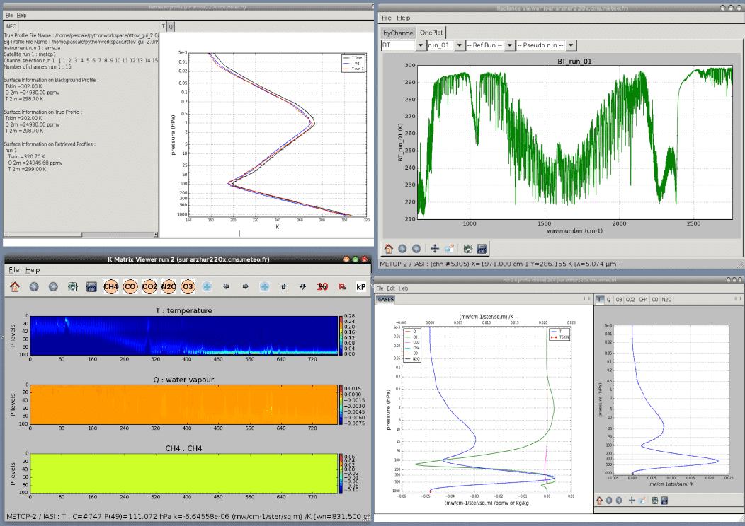RTTOV GUI screenshot
